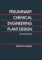 Cover image for Preliminary chemical engineering plant design