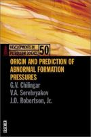 Cover image for Origin and prediction of abnormal formation pressures