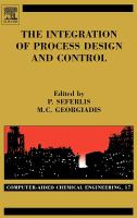 Cover image for The integration of process design and control