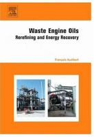 Cover image for Waste engine oils : rerefining and energy recovery