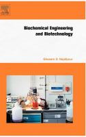 Cover image for Biochemical engineering and biotechnology