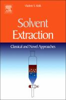 Cover image for Solvent extraction : classical and novel approaches