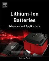 Cover image for Lithium-ion batteries : advances and applications