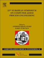 Cover image for 23rd European Symposium on Computer Aided Process Engineering