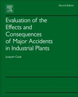 Cover image for Evaluation of the Effects and Consequences of Major Accidents in Industrial Plants