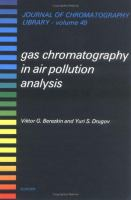 Cover image for Gas chromatography in air pollution analysis