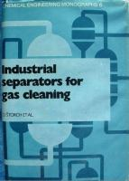 Cover image for Industrial separators for gas cleaning