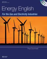 Cover image for Energy English for the gas and electricity industries