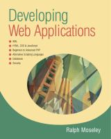 Cover image for Developing Web applications