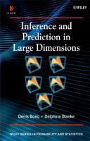 Cover image for Inference and prediction in large dimensions