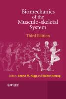 Cover image for Biomechanics of the musculo-skeletal system