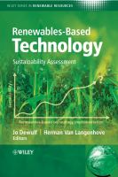 Cover image for Renewables-based technology : sustainability assessment