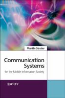 Cover image for Communication systems for the mobile information society