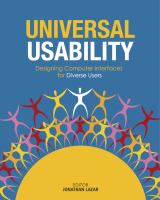 Cover image for Universal usability : designing computer interfaces for diverse user populations