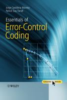 Cover image for Essentials of error-control coding