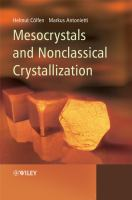 Cover image for Mesocrystals and nonclassical crystallization
