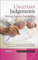 Cover image for Uncertain judgements : eliciting experts' probabilities