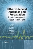 Cover image for Ultra-wideband : antennas and propagation for communications, radar and imaging