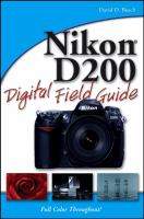Cover image for Nikon D200 digital field guide