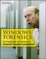 Cover image for Windows forensics : the field guide for corporate computer investigations