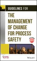 Cover image for Guidelines for the management of change for process safety