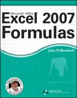 Cover image for Excel 2007 formulas