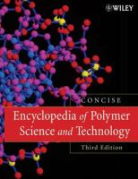 Cover image for Encyclopedia of polymer science and technology, concise