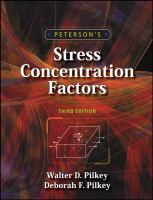 Cover image for Peterson's stress concentration factors