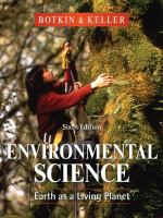 Cover image for Environmental science : earth as a living planet