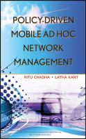 Cover image for Policy-driven mobile ad hoc network management