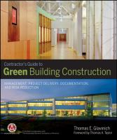 Cover image for Contractors guide to green building construction : management, project  delivery, documentation, and risk reduction