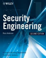 Cover image for Security engineering : a guide to building dependable distributed systems