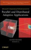 Cover image for Advanced computational infrastructures for parallel and distributed adaptive applications