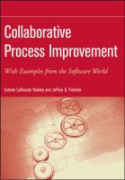 Cover image for Collaborative process improvement : with examples from the software world