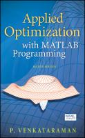 Cover image for Applied optimization with MATLAB programming