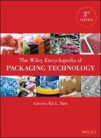 Cover image for The Wiley encyclopedia of packaging technology