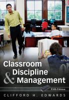 Cover image for Classroom discipline and management