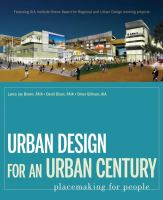 Cover image for Urban design for an urban century : placemaking for people