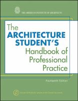 Cover image for The architecture student's handbook of professional practice