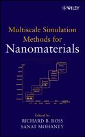 Cover image for Multiscale simulation methods for nanomaterials