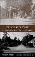 Cover image for Forensic procedures for boundary and title investigation