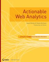 Cover image for Actionable web analytics : using data to make smart business decisions