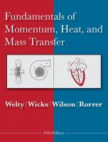 Cover image for Fundamentals of momentum, heat, and mass transfer