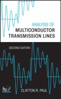 Cover image for Analysis of multiconductor transmission lines