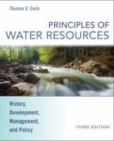 Cover image for Principles of water resources : history, development, management, and policy