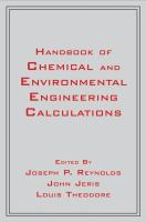 Cover image for Handbook of chemical and environmental engineering calculations