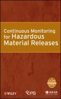 Cover image for Continuous monitoring for hazardous material releases