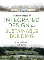 Cover image for Fundamentals of integrated design for sustainable building