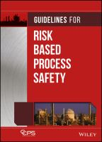 Cover image for Guidelines for risk based process safety