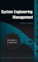 Cover image for System engineering management
